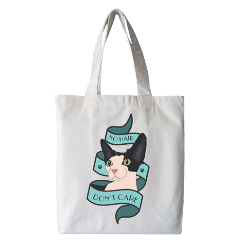 No Hair Don't Care Tote Bag