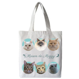 Maison de Moggy Furry Family Tote Bag Side 1