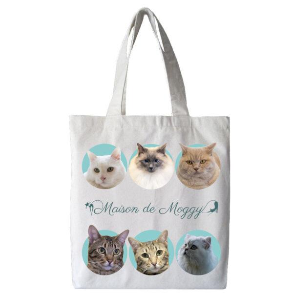 Maison de Moggy Furry Family Tote Bag Side 1