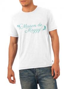Maison de Moggy Logo Mens White T-Shirt