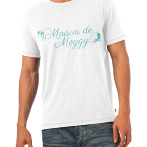 Maison de Moggy Logo Mens White T-Shirt